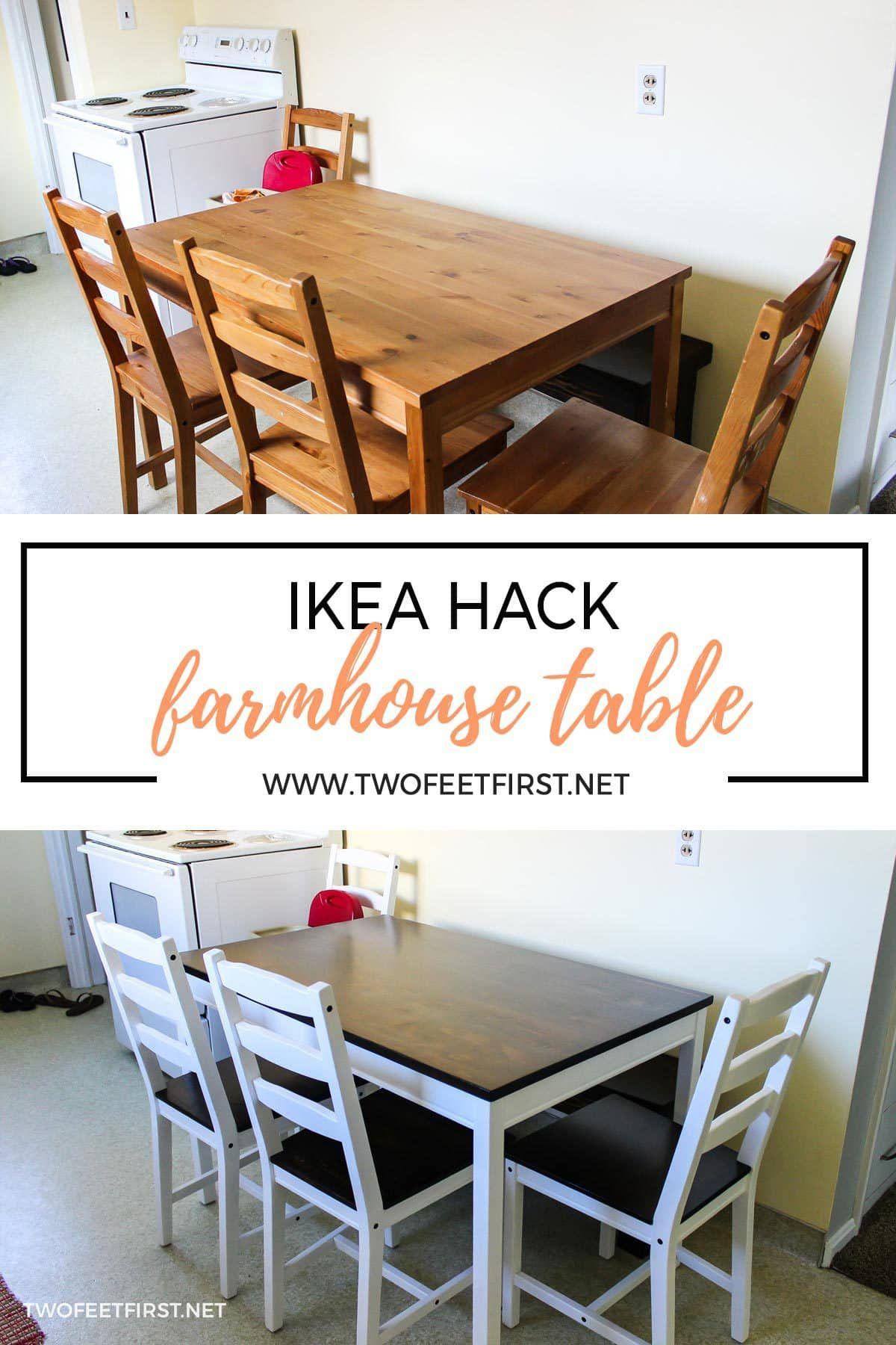 Ikea Hack Farmhouse Table Ikea Dining Table Hack Diy Kitchen