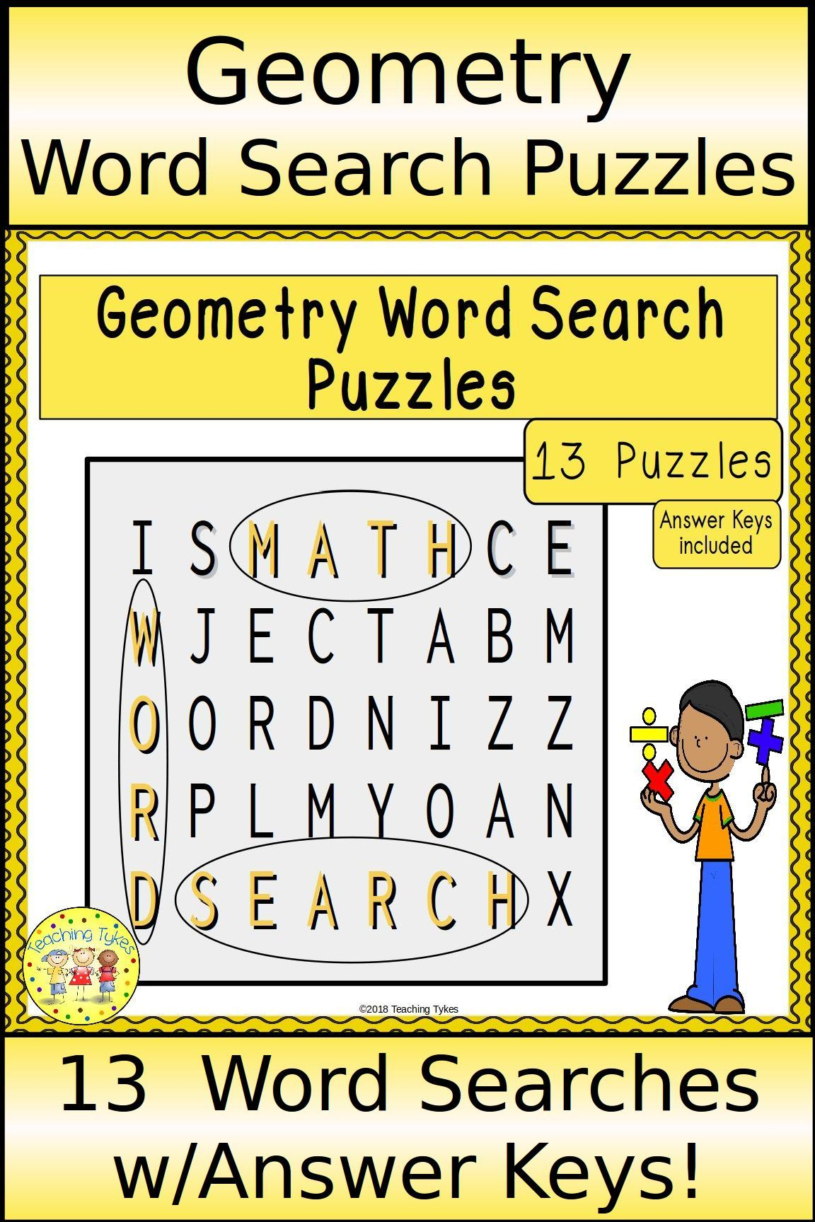 Geometry word search puzzles geometry words geometry