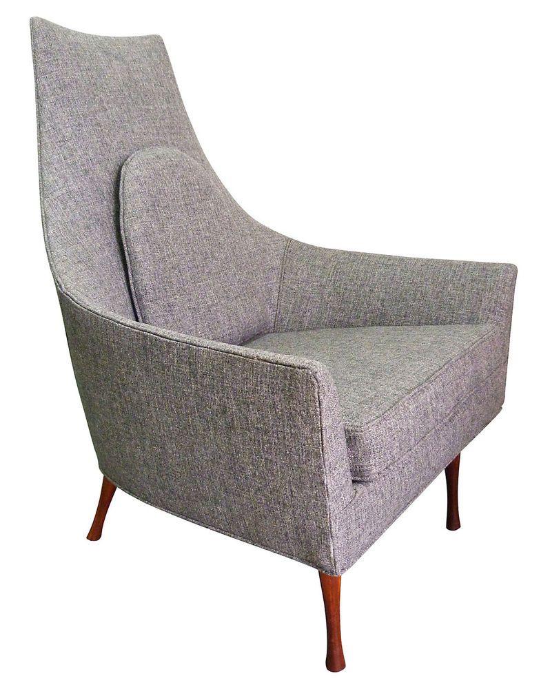 Paul McCobb Widdicomb Tall Symmetric Lounge Chair Vintage Mid-Century High  Back #MidCenturyModern #