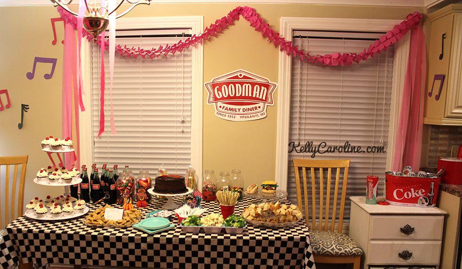 1950s Party Decorations Party Table Retro Vintage