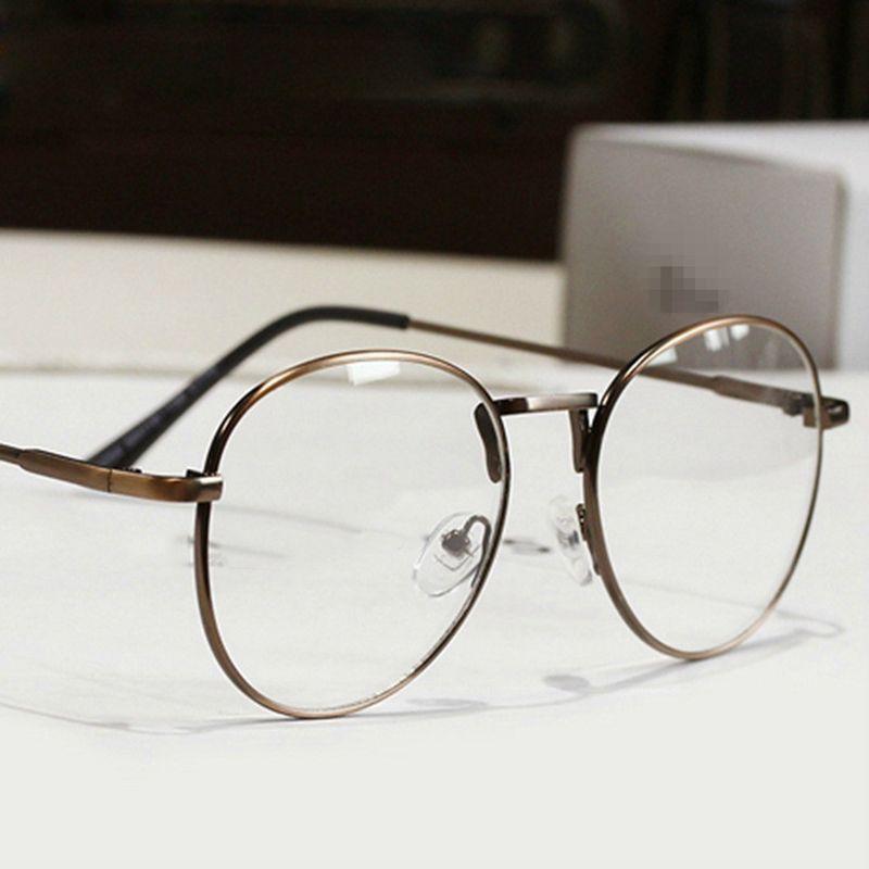 New fashion diseñador de los hombres de metal gafas redondas marco ...