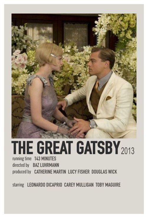 minimal movie posters the great gatsby
