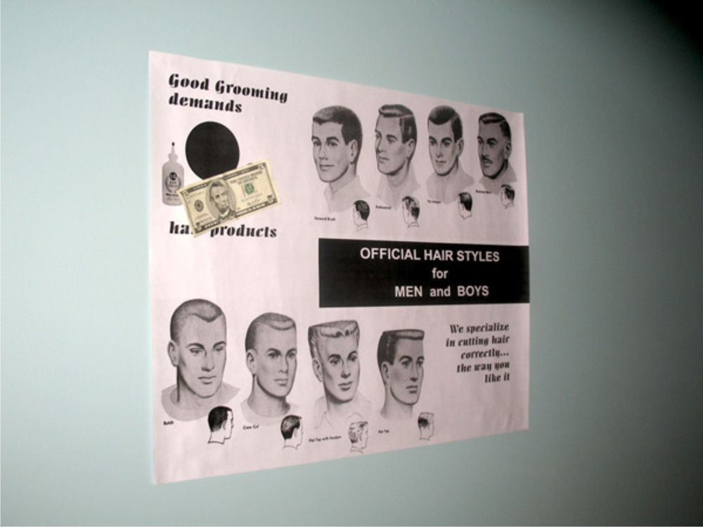 Barbershop Haircut Poster Floyd Rare Andy Griffith Prop Tv Mayberry Show L K Props For Sale Andy Griffith Tv Memorabilia