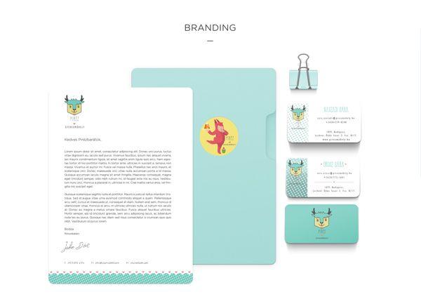 Positively adorable branding by Kata Kerekes, via Behance