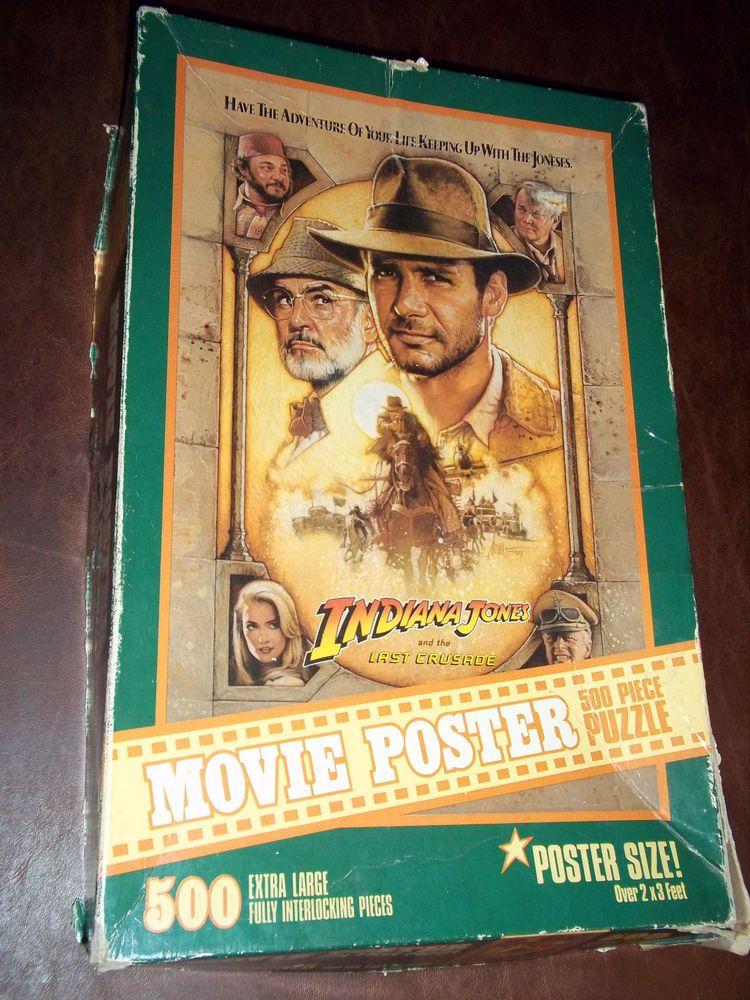 indiana jones last crusade movie poster jigsaw puzzle