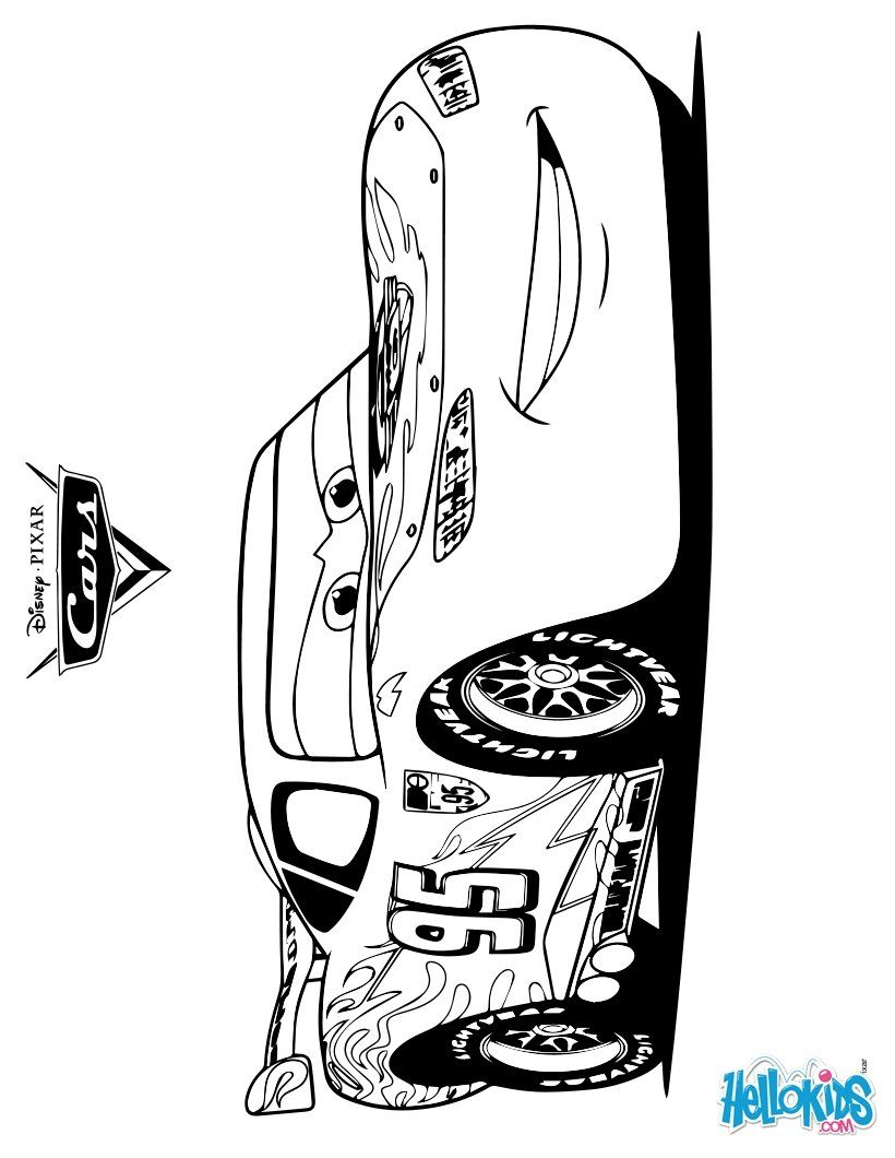 Lightening McQueen - CARS 2 coloring page | Free Printables ...