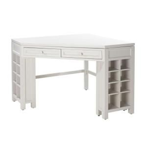Martha Stewart Living Sharkey Gray Corner Craft Table 0795200270
