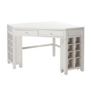 Martha Stewart Living, Sharkey Gray Corner Craft Table, 0795200270 At The  Home Depot