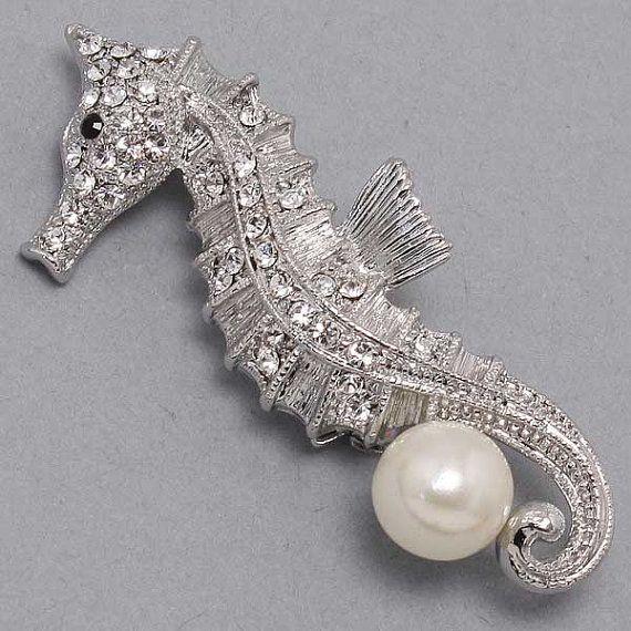 Seahorse Brooch by Parisxox on Etsy, $22.00