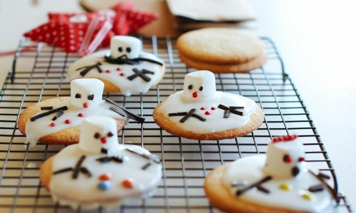 Melted Snowmen Cookies Recipe Melted Snowman Cookies Christmas Cooking Snowman Cookies