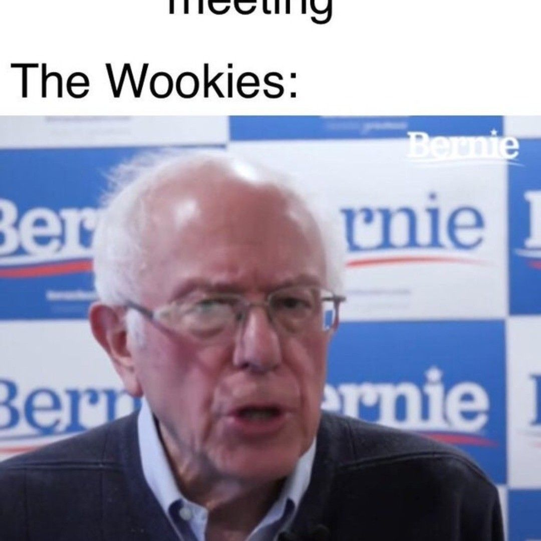 What About The Droid Attack On The Wookies Starwars Berniesanders In 2020 Star Wars Humor Ultimate Star Wars Star Wars Pictures