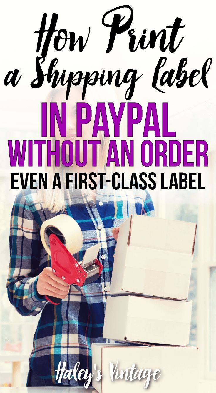 How To Print A Shipping Label In Paypal Without An Order Shipping Label Class Labels Labels