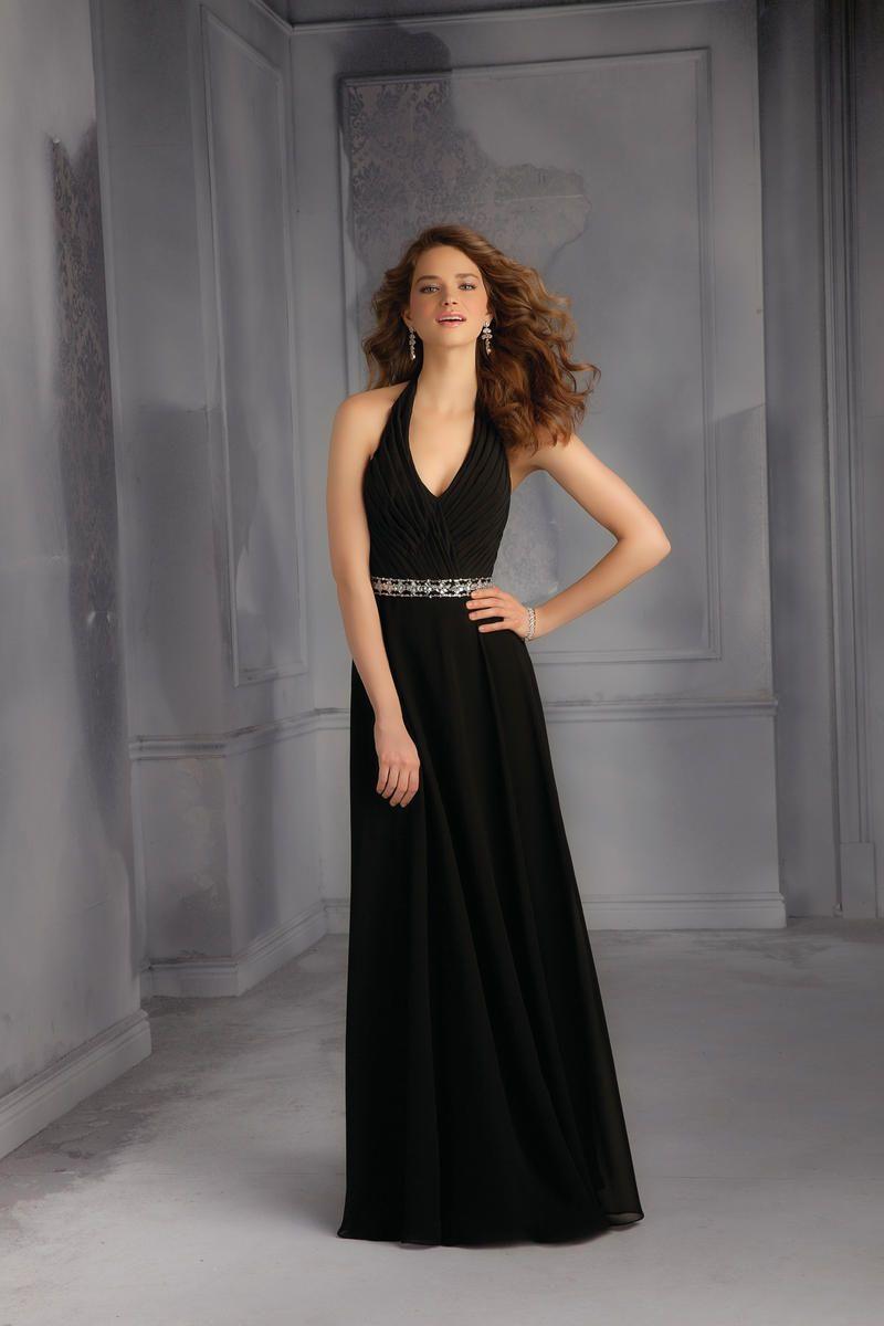 Mori Lee Bridesmaids 701 Long Halter Dress