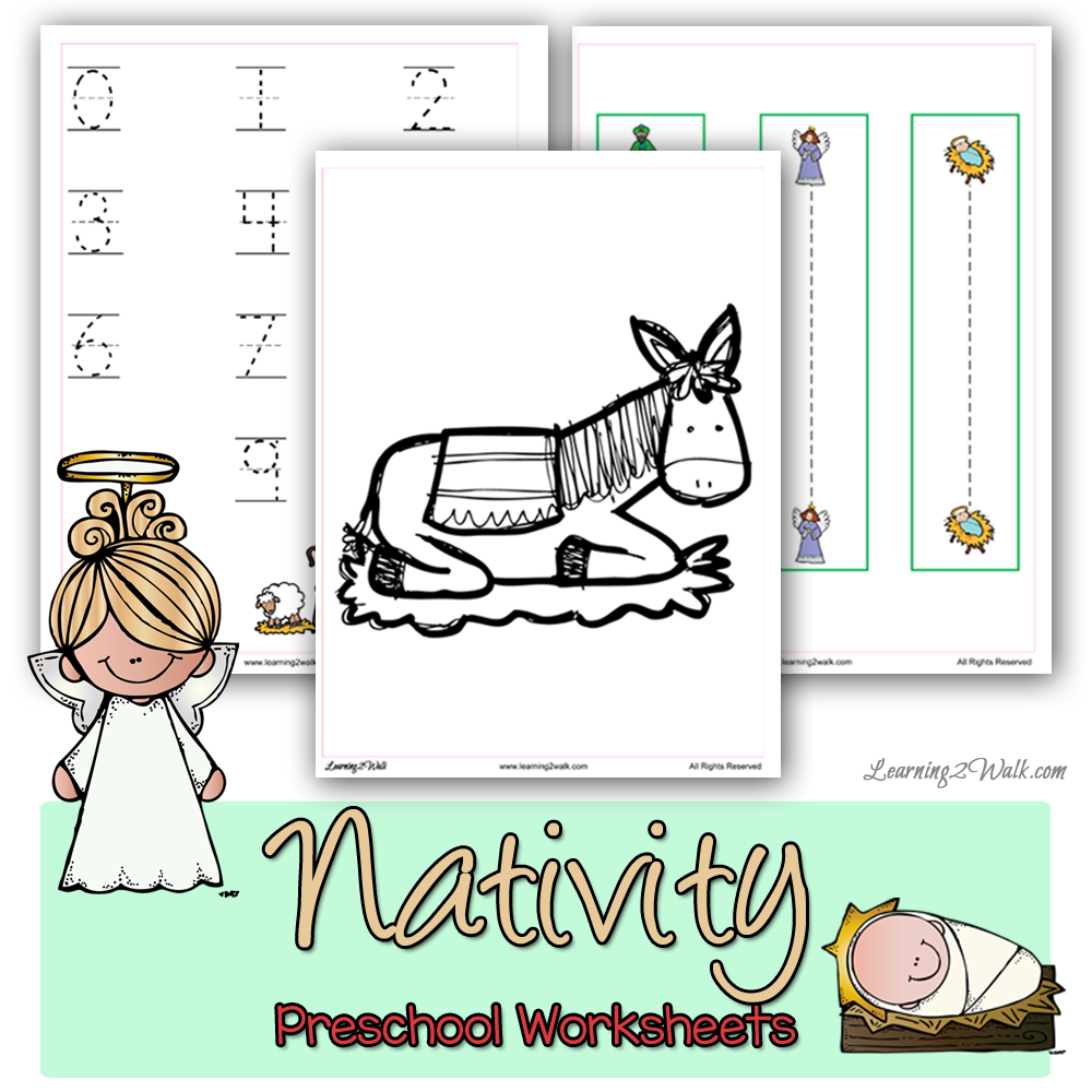 These christmas nativity preschool worksheets will ensure that