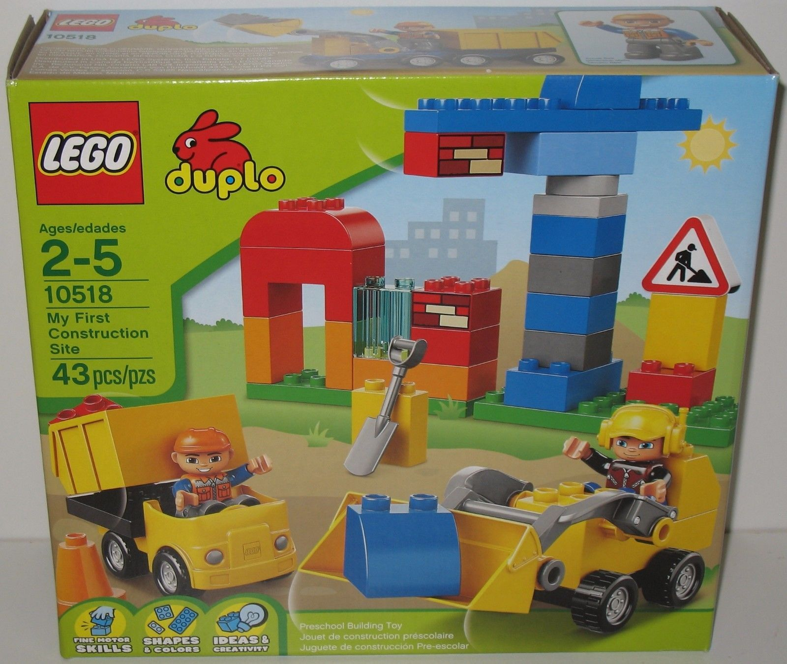 Lego Duplo My First Construction Site Set 10518 New Sealed 10593 Fire Station 673419190473 Ebay