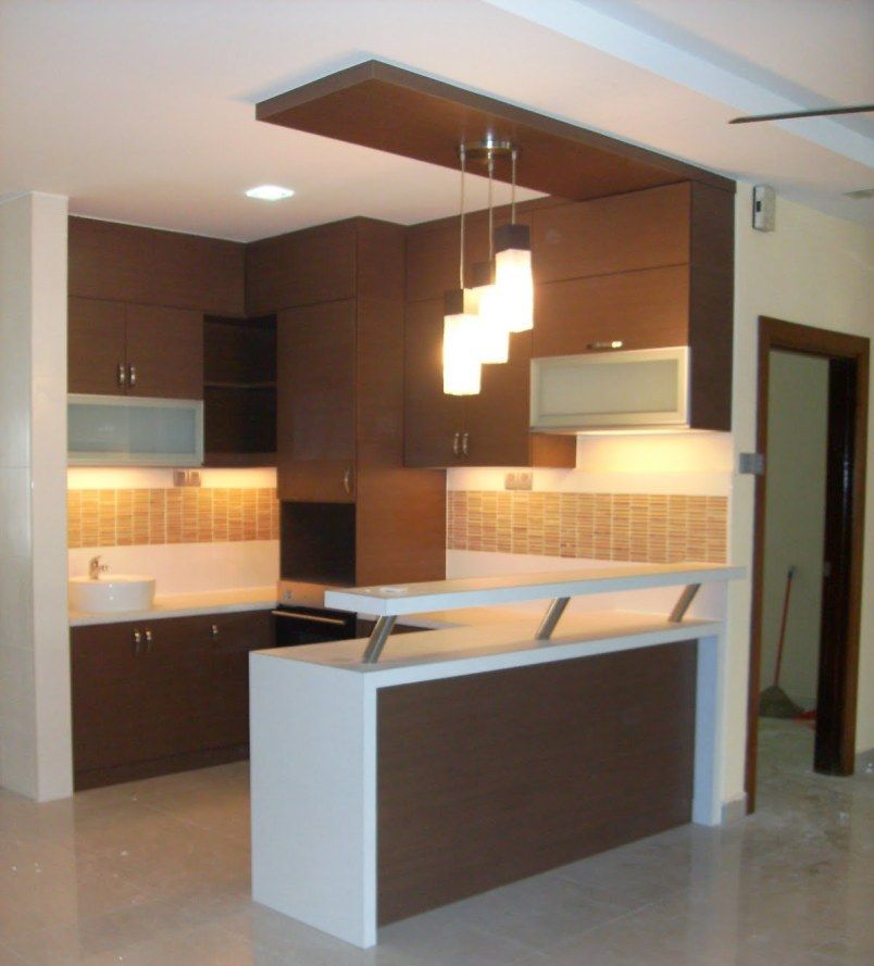 Lovely Modern Home Bar Counter Design In Wooden Accent Ideas : Provide  Entertaining Spot Even Without