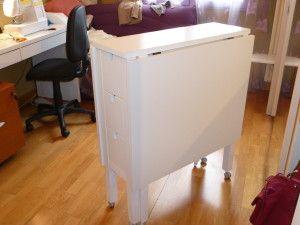 Table De Coupe Pliante A Partir De La Table Norden De Chez Ikea Ikea Rangement Couture Table De Coupe