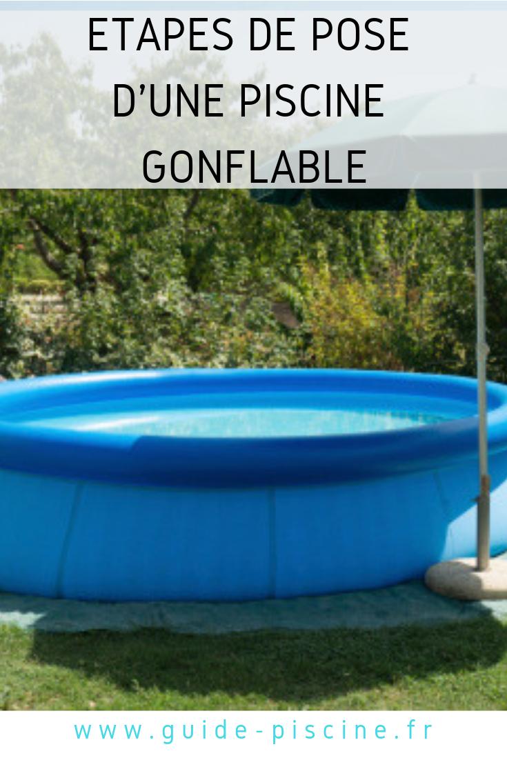 Une piscine gonflable dans votre jardin : de long moments de détente ...