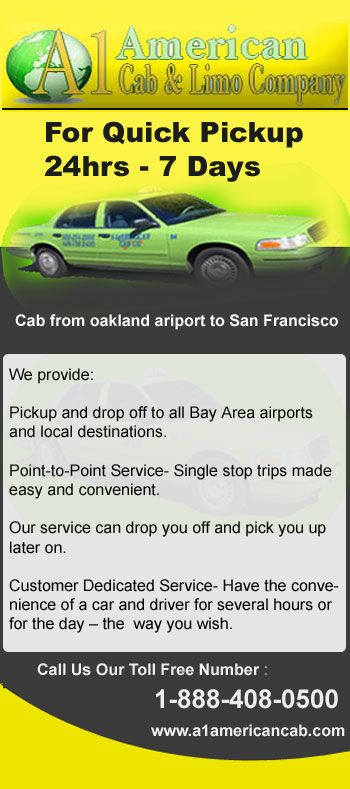 A1 American Cab provides taxi service in Mountain View and Sunnyvale