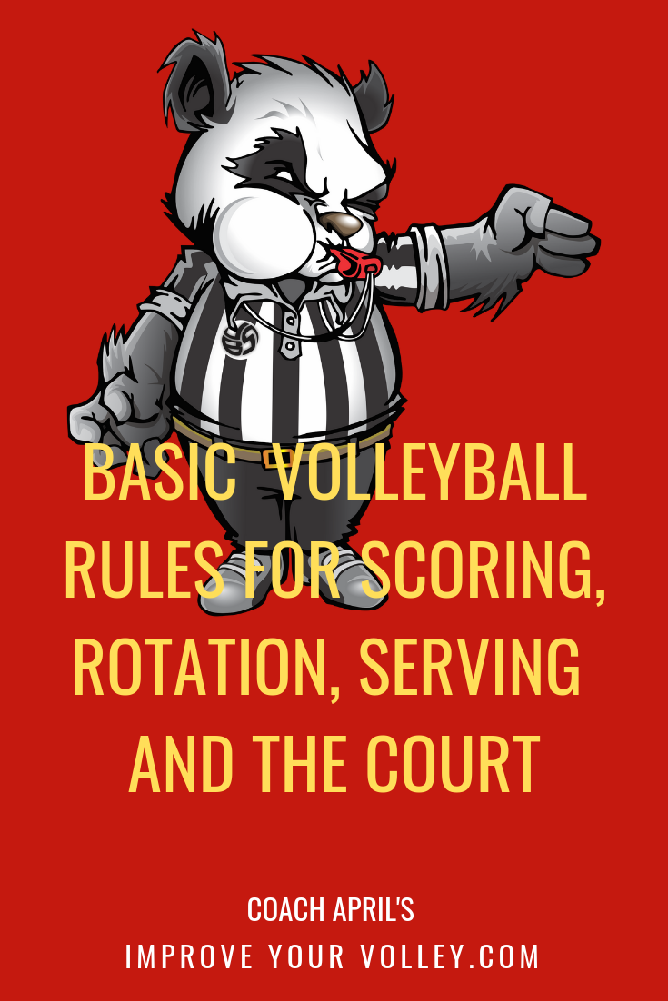 Basic Volleyball Rules For Scoring Rotation Serving And The Court Volleyball Rules Volleyball Court Size Volleyball Net Height