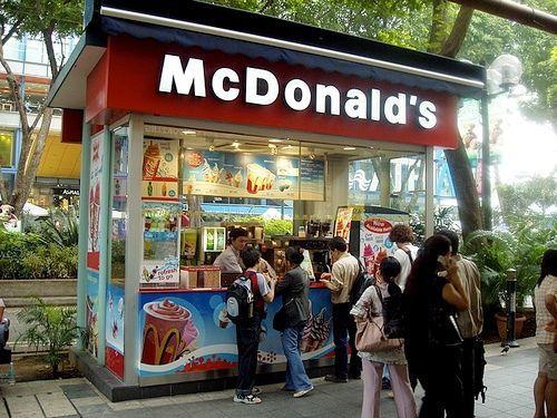 Kiosk Mcdonalds W Tokyo Restauracje Outdoors