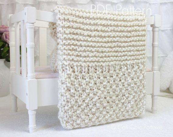 Beginner Knitting PATTERN 102 - Buttercream - Baby Afghan Pattern ...
