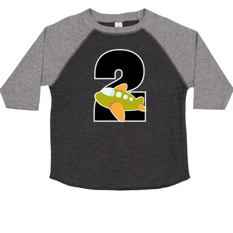 Cute Two Year Old Birthday Party Toddler T Shirt With Number 2 And Airplane Design 2799 Homewiseshopperkids