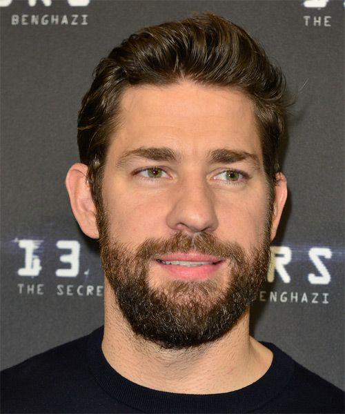 John Krasinski Short Straight Hairstyle Straight Hairstyles Mens Hairstyles Short Long Hair Styles Men