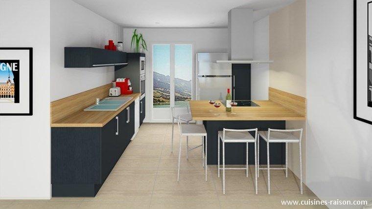 cuisine design moderne am nagement de la pi ce avec un. Black Bedroom Furniture Sets. Home Design Ideas