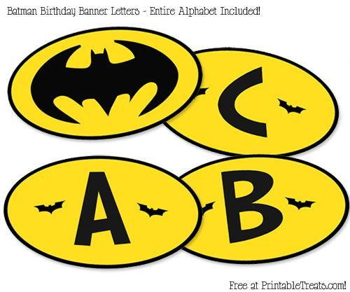 free printable batman birthday banner printable treats - Free Printable Batman Pictures