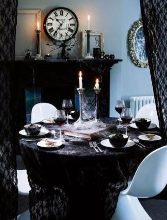 Gothic table settings | Vamp it up | Pinterest | Table settings and ...