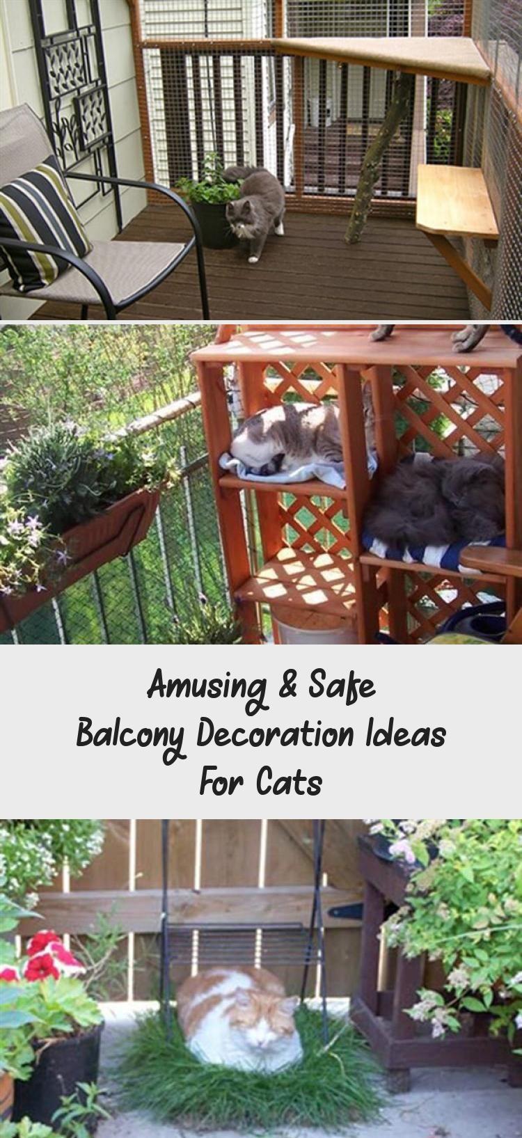 Amusing safe balcony decoration ideas for cat friendly
