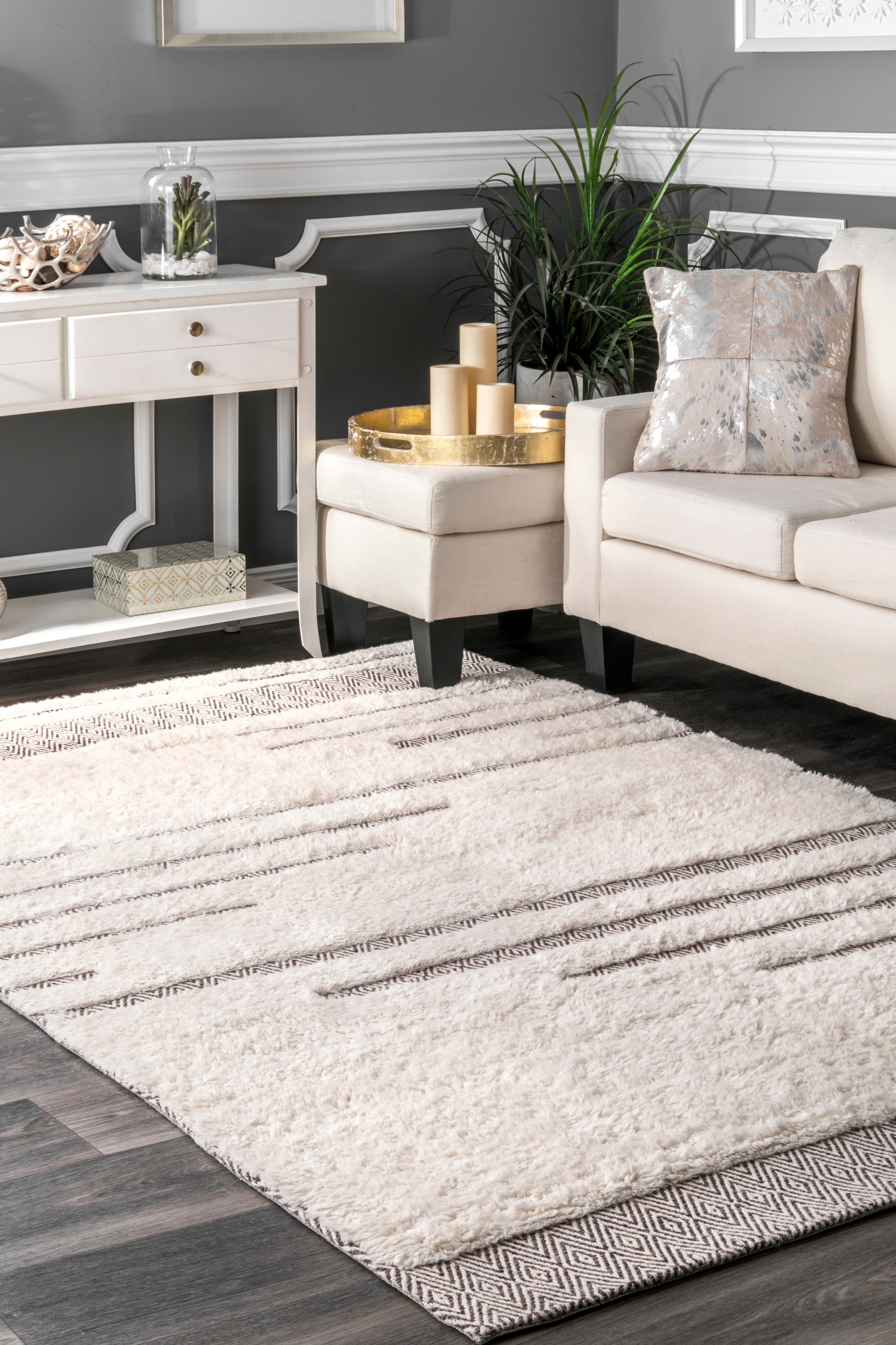 overstock rug home woven garden x nuloom hand wool flokati shag room living today free product shipping