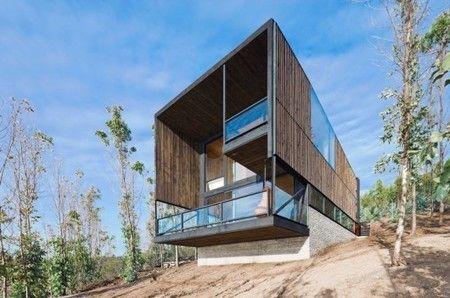 Superbe Maison Minimaliste Surplombant L'océan Au Chili