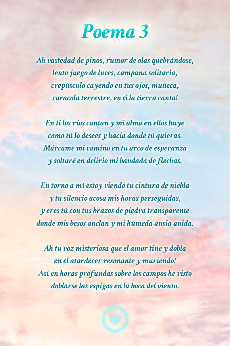 Poema 3 Pablo Neruda Poemas Poema Cortos De Amor Poemas De Neruda