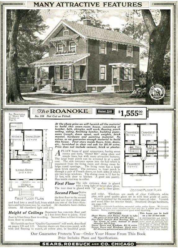 Aladdin Kit Homes Sears Modern Homes Square House Plans Four Square Homes Vintage House Plans