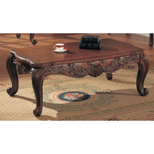 Venice Traditional Rectangular Cocktail Table Mahogany Coffee