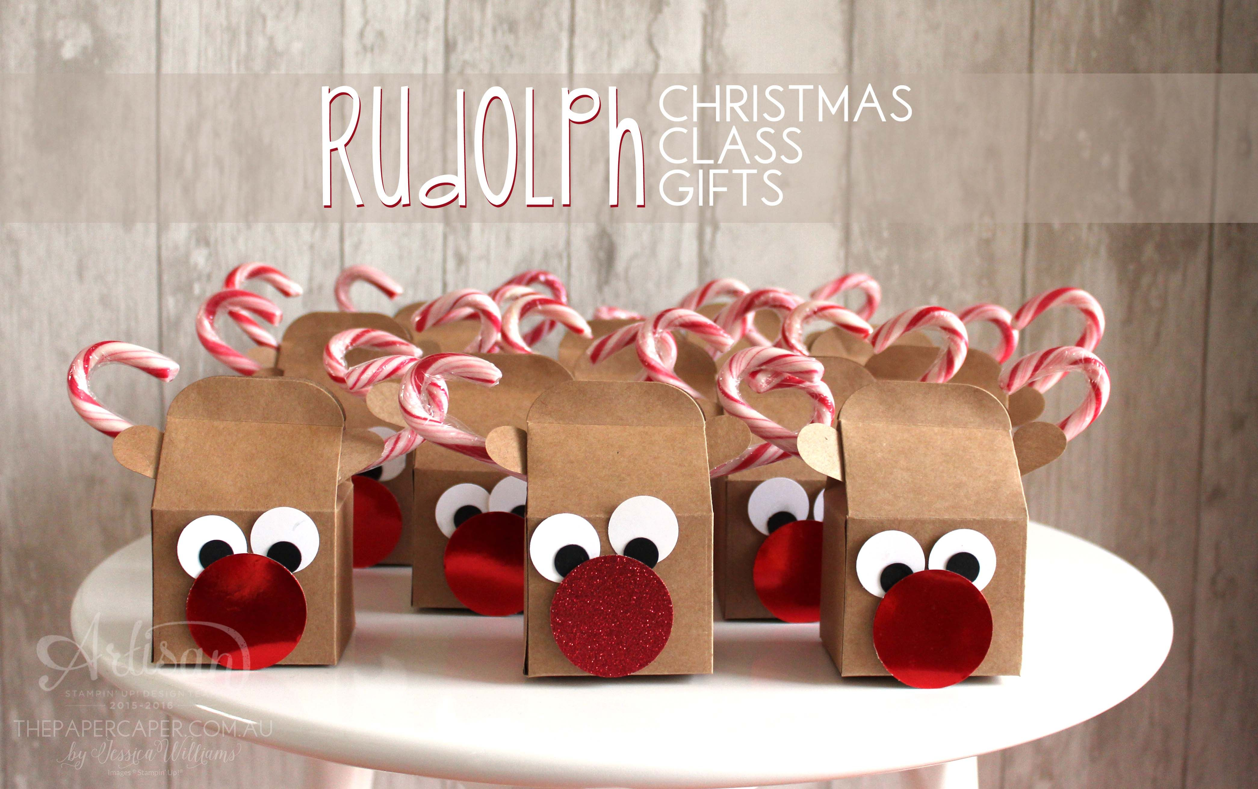 Rudolph Christmas Class Gifts Christmas paper crafts