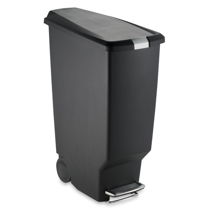 Best Simplehuman® Slim Plastic 40 Liter Step On Trash Can Bed 400 x 300