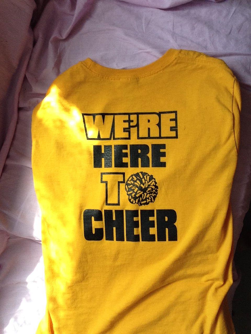 My cheer shirt(back)   Cheer shirts, Cheerleading shirts ...