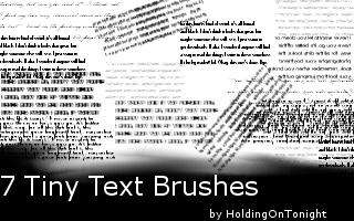 Tiny Text Brushes by HoldingOnTonight.deviantart.com on @DeviantArt