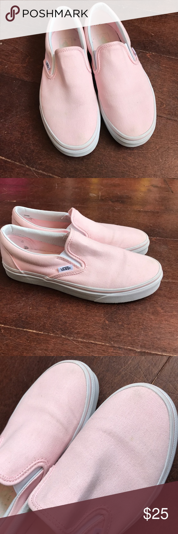 d6b018a9ee4c Ballerina Pink Classic Slip Ons 🎀 worn a handful of times