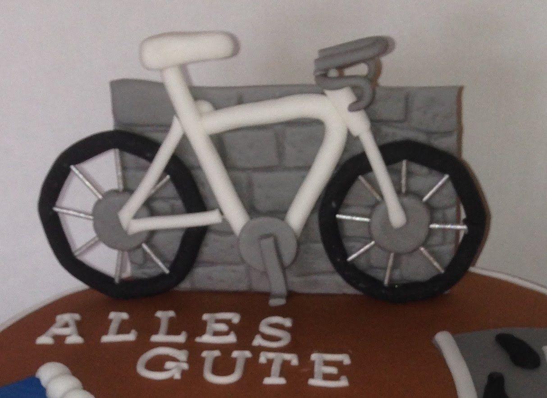 Fahrrad aus Fondant modellieren | Anleitung Fahrrad | Pinterest ...
