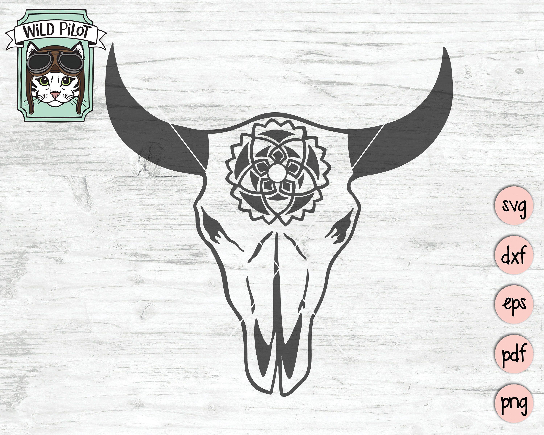 Cow Skull SVG Cow Skull svg file Cow Skull Medallion Bull