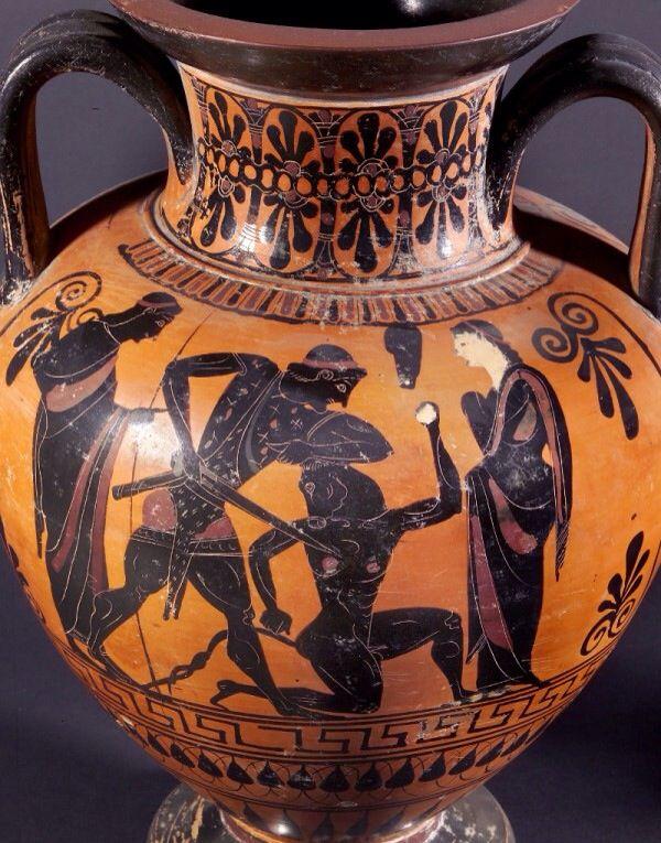 Qui A Tué Le Minotaure : minotaure, Thesée, Minotaure., Ancient, Greek, Pottery