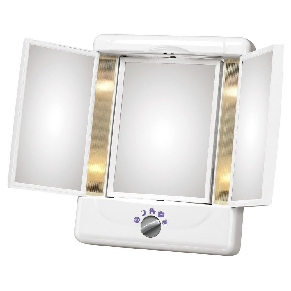 Conair Illumina Collection 3 Panel Lighted Makeup Mirror Colors