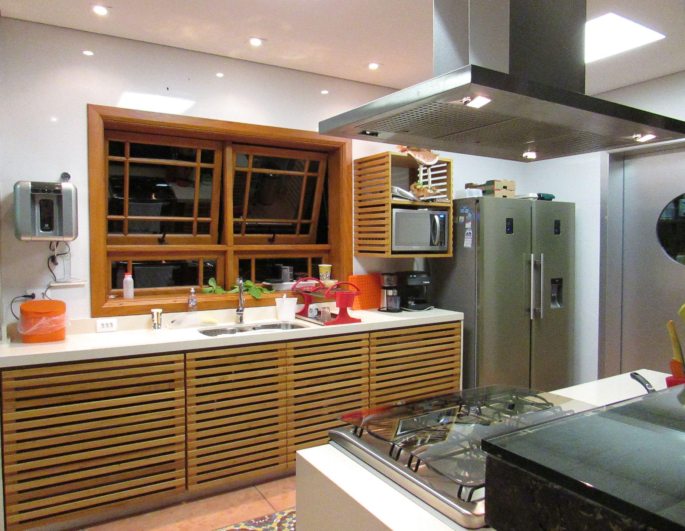 Cozinha Aberta Totalmente Integrada A Sala De Estar E Jantar Em Uma