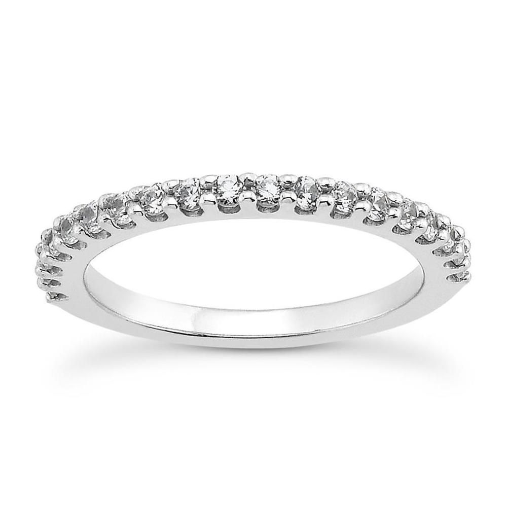 Shared U Claw Diamond Wedding Band Ring In 14k White Gold Unbranded Withdiamonds