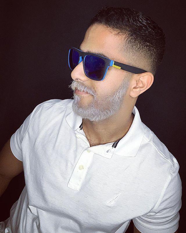 Gray beard @iamkennethlall  #PSVSTUDIO #beard #beardcoloring #beardedmen @psvstudiopty #graybeard #barbaGris