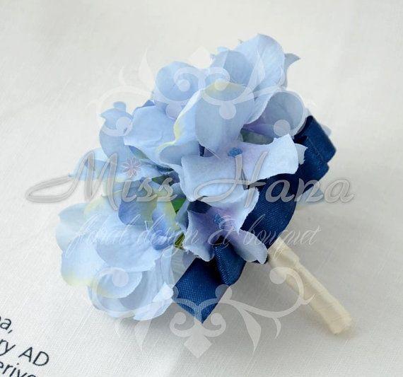 Blue hydrangea boutonnieres wrist corsage wrapped in ribbon silk blue hydrangea boutonnieres wrist corsage wrapped in ribbon silk flower arrangement rustic chic romantic bridesmaid mightylinksfo Images